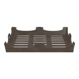 Oomph Ocean Drive Outdoor Console Tray, Dark Gray For Sale