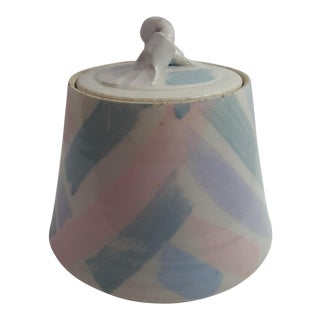 Lidded Stoneware Crock Pot For Sale