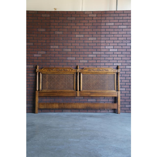 Brown 20th Century French Regency Cane King/Cal King Headboard For Sale - Image 8 of 8