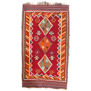 "Pasargad Ny Antique Persian Shiraz Kilim Rug - 5'4"" X 9'4"" For Sale"