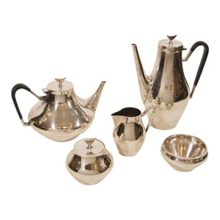 1950s Denmark Complete Tea and Coffee Service by John Prip for Reed & Barton - Set of 4 For Sale