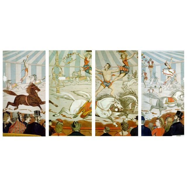 In the Ring - Four Prints of Circus Art From 1800s - Image 1 of 5