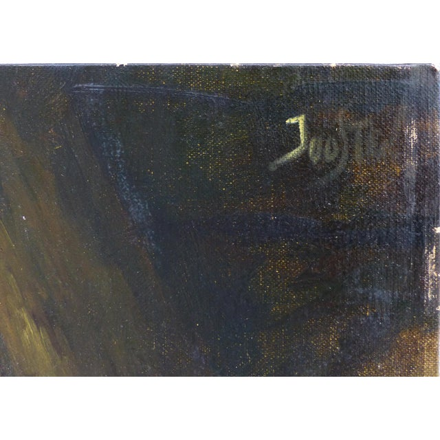 Offered for sale is a Dutch style still life oil painting on linen canvas. The painting depicts a dark scene with a...
