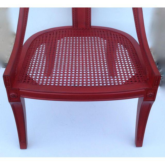 Hollywood Regency Spoon Back Chairs - a Pair For Sale - Image 9 of 10