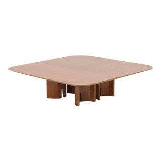 Square Burl Coffee Table by Giovanni Offredi for Saporiti For Sale