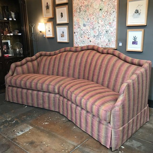 Custom Linen Sofa - Image 3 of 9