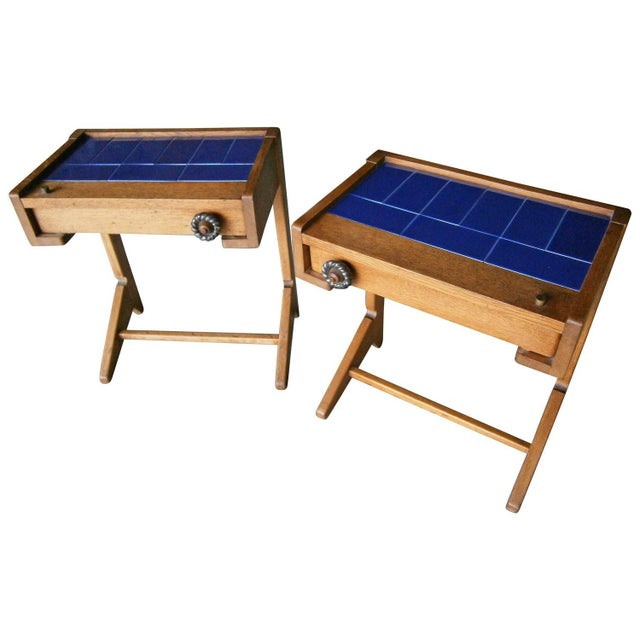 Guillerme & Chambron Vintage Side Tables - A Pair - Image 1 of 6