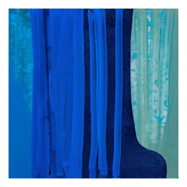 "Marcy Rosenblat ""Blue Shift"" Painting For Sale"
