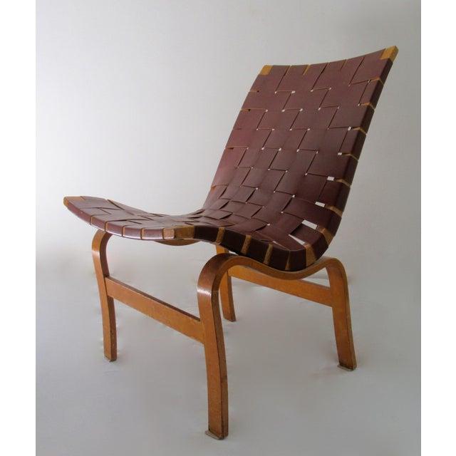 "Karl Mathsson Final Markdown: 1940-49 Vintage Bruno Mathsson Mid-Century Modern Scandinavian ""Eva"" Easy Chairs - a Pair For Sale - Image 4 of 13"