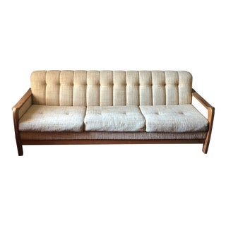 Vintage Mid Century Teak Sofa For Sale