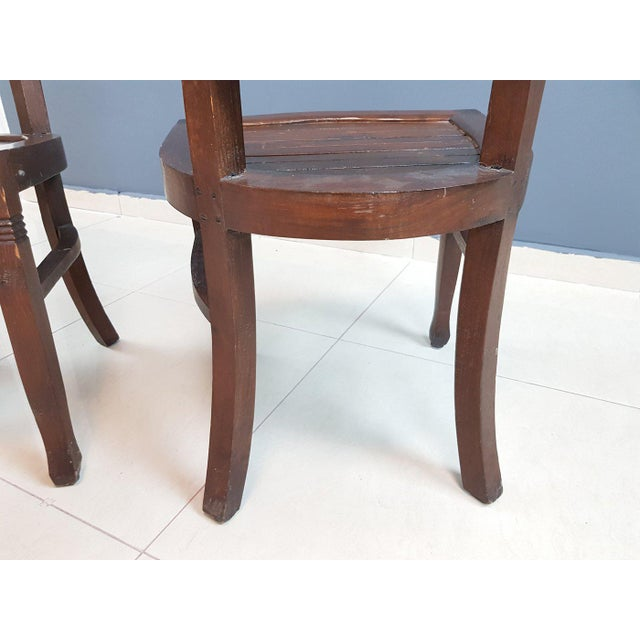 Vintage Wood Colonial Dining Set Table and 6 Chairs For Sale - Image 11 of 13