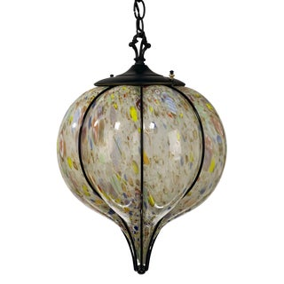 Mid-Century ModernMurano Glass Caged 'Balloon' Pendant For Sale