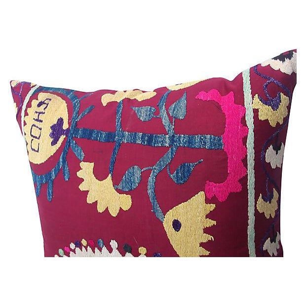 Turkish Suzani Pillow - Image 4 of 5