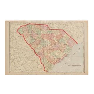 Cram's 1907 Map of South Carolina