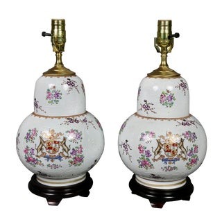 Pair of Samson Porcelain Table Lamps For Sale
