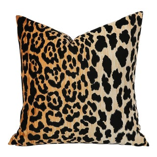 Velvet Leopard or Cheetah Accent Pillow Cover For Sale