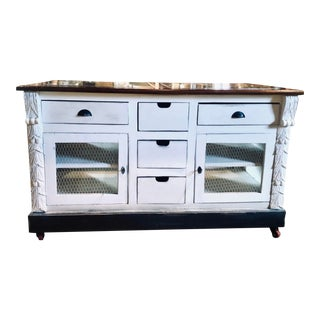 Rustic Style Kitchen Island For Sale