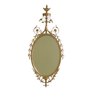 1960s Vintage Friedman Brothers Adam Style Gold Mirror For Sale