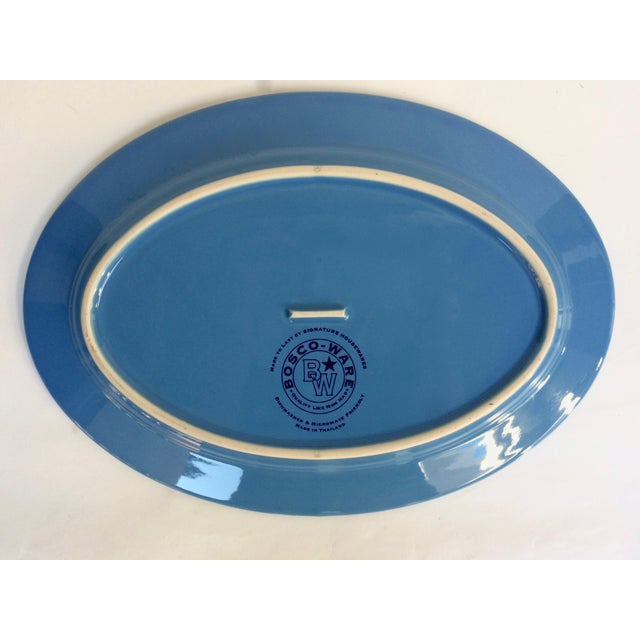 Blue Oval Serving Platter - Image 4 of 5