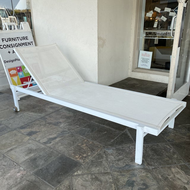 Mamagreen Allux White Outdoor Lounger For Sale - Image 13 of 13