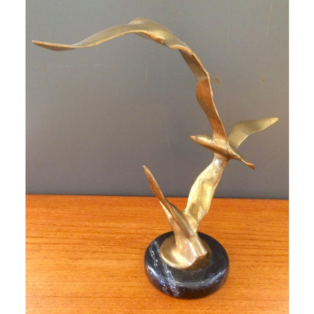 Vintage Jere-Style Brass Bird Sculpture - Image 5 of 9