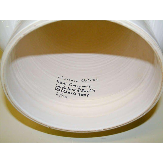 "2001 France Florence Doleac for Radi Designers ""Le Robot"" Ceramic Fruit Bowl For Sale - Image 4 of 5"