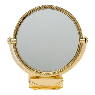 Brass Vanity Table Mirror by Piaget Switzerland For Sale