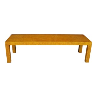Mid Century Henredon Parsons Style Low Coffee Table/Bench For Sale