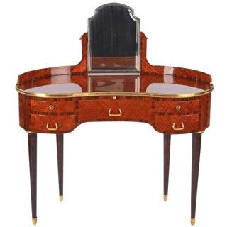 Louis XVI Style Vanity Table Stamped Gustave Keller, 1890s
