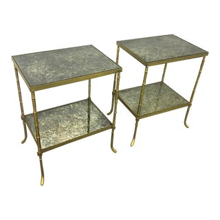 Maison Bagues Pair of 2 Tier Charming Coffee Table For Sale