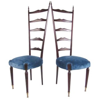 Pair of Mid-Century Modern Chiavari Style High Back Chairs Preview