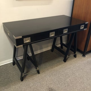 1970s Campaign Black Finish Writing Desk Preview