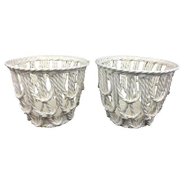 European Creamware Baskets - A Pair - Image 1 of 2