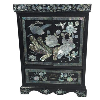 Chinese Lacquer Jewelry Box For Sale