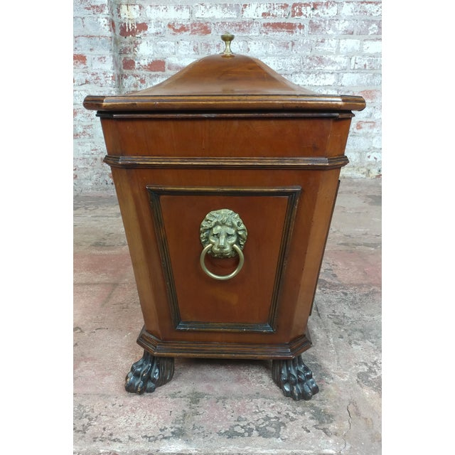 19th c. Fabulous English Regency Mahogany Wine Cellarette 1820s For Sale - Image 4 of 9