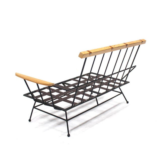 Iron Mid-Century Modern Sectional Sofa Frames- 2 Pieces For Sale - Image 7 of 11
