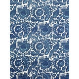 Image of Sample, Scalamandre Resist Print, Light & Dark Blue on White Fabric For Sale