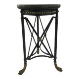 Image of Neoclassical Theodore Alexander Marble and Iron Side Table For Sale