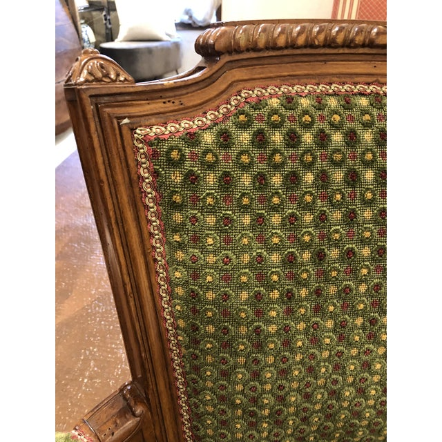 Early 21st Century Brunschwig & Fils French Carved Chair (Upholstery Like New) For Sale - Image 5 of 7