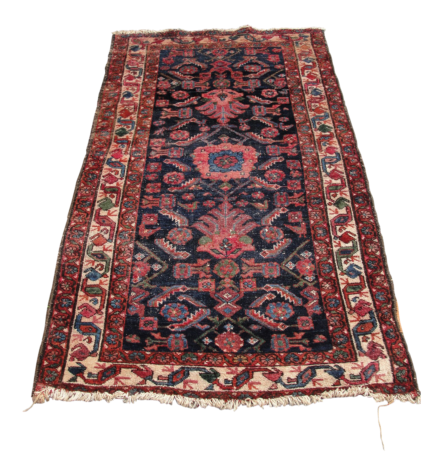 1940s Vintage Persian Hand Knotted Wool Rug 3 2 5 9 Chairish