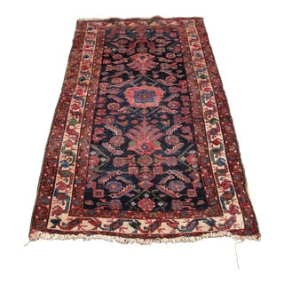 1940s Vintage Persian Hand-Knotted Wool Rug - 3′2″ × 5′9″ For Sale