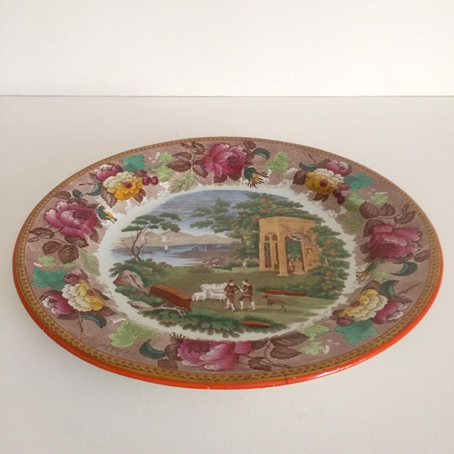 Ceramic Antique Wedgwood Transferware Neoclassical Floral Ceramic Plate For Sale - Image 7 of 11