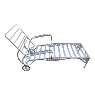 Woodard Orleans Iron Chaise For Sale