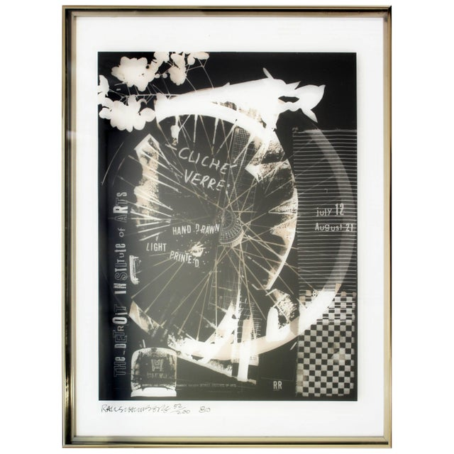 Mid-Century Modern Robert Rauschenberg Signed Photolithograph, 1980 52/200 For Sale - Image 9 of 9