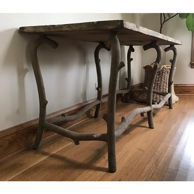 Faux Bois Concrete Table - Image 2 of 3