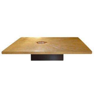 George Mathias Etched Bronze and Agate Coffee Table For Sale