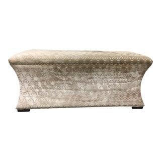 Bernhardt Custom Velvet Bench