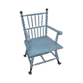 Blue Antique Barley Twist Arm Chair Merklen Brothers