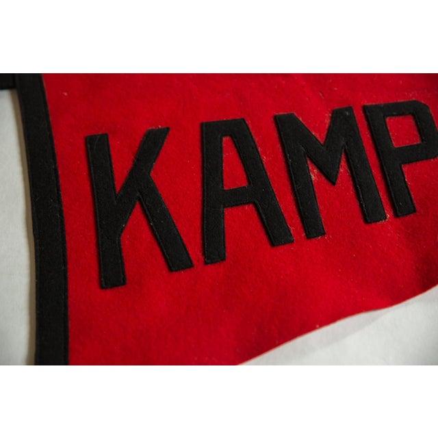 Americana Vintage Kamp Kill Kare Felt Flag Pennant For Sale - Image 3 of 6