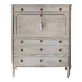 1790s Gustavian Secretary Desk For Sale